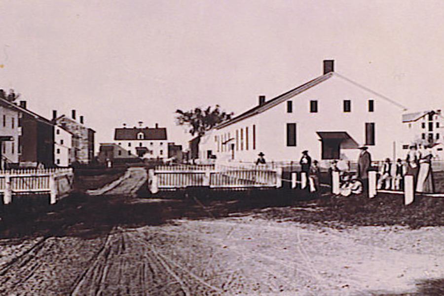 old photo of shaker settlement